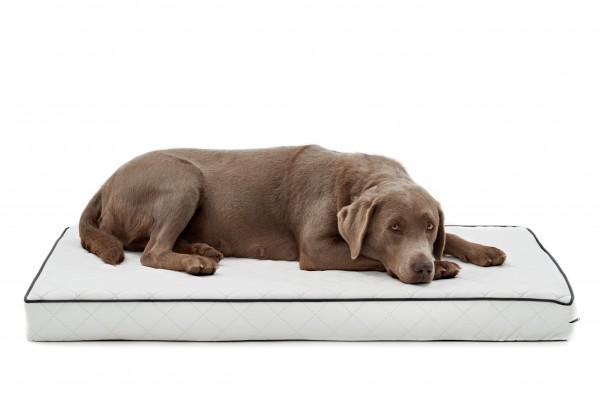 Woofery orthopädische Hundematte Stitch aus gestepptem Kunstleder